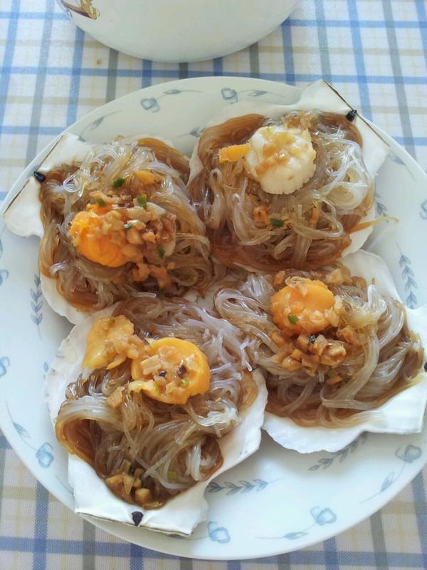 蒜蓉粉丝蒸鲜贝的做法