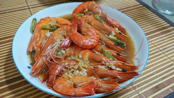 清蒸海虾的做法