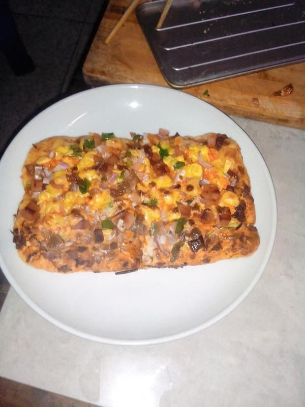 方形培根香菇披萨(附披萨酱)的做法
