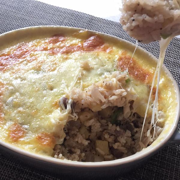 黑椒牛肉芝士焗饭的做法