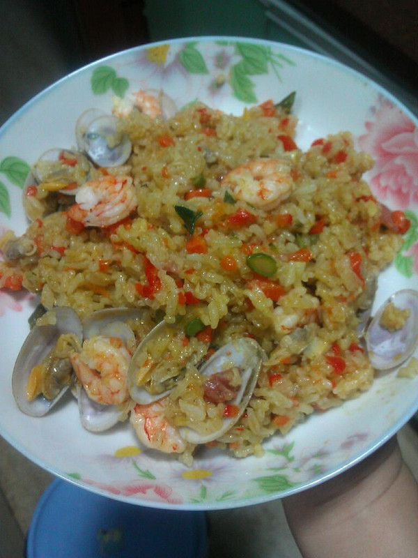 咖喱海鲜饭的做法