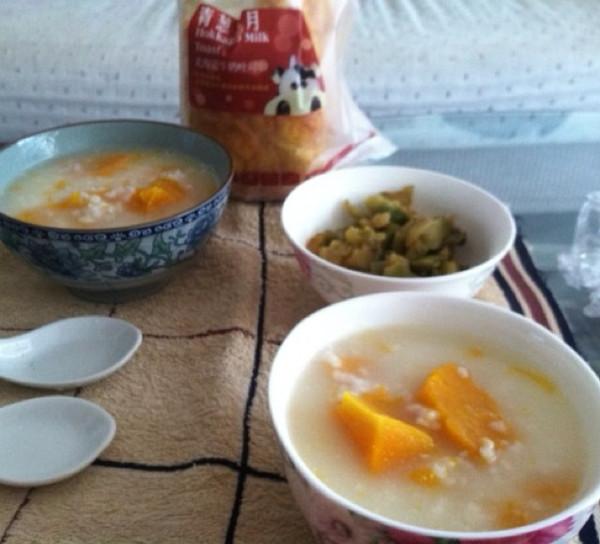 椰香南瓜粥的做法