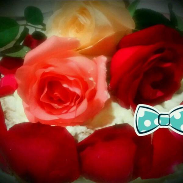 布满玫瑰花的蛋糕的做法