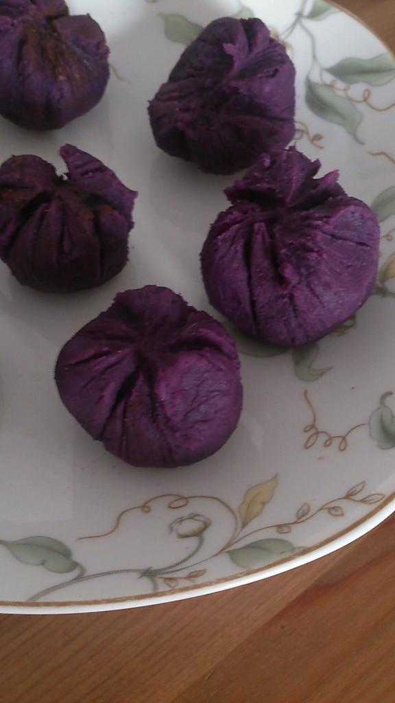 下午茶小点心(一):紫薯绞巾的做法