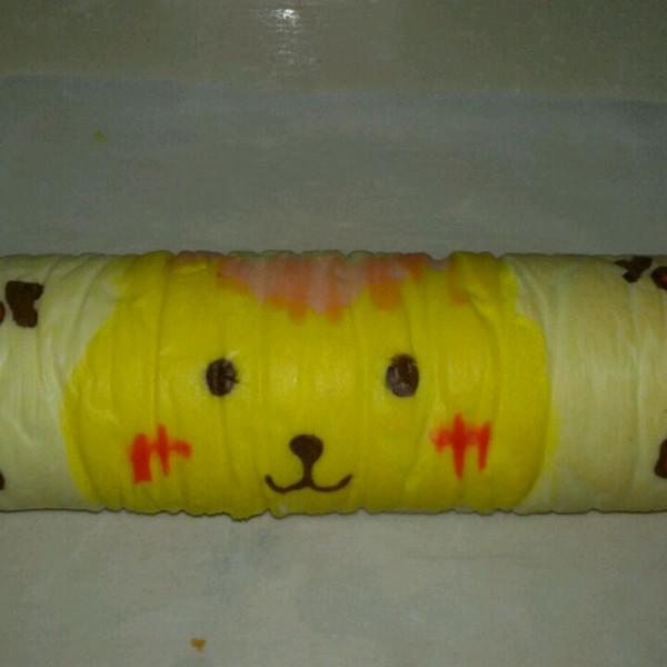 萌兔子彩绘蛋糕卷#特百惠龙卷风佳作#的做法