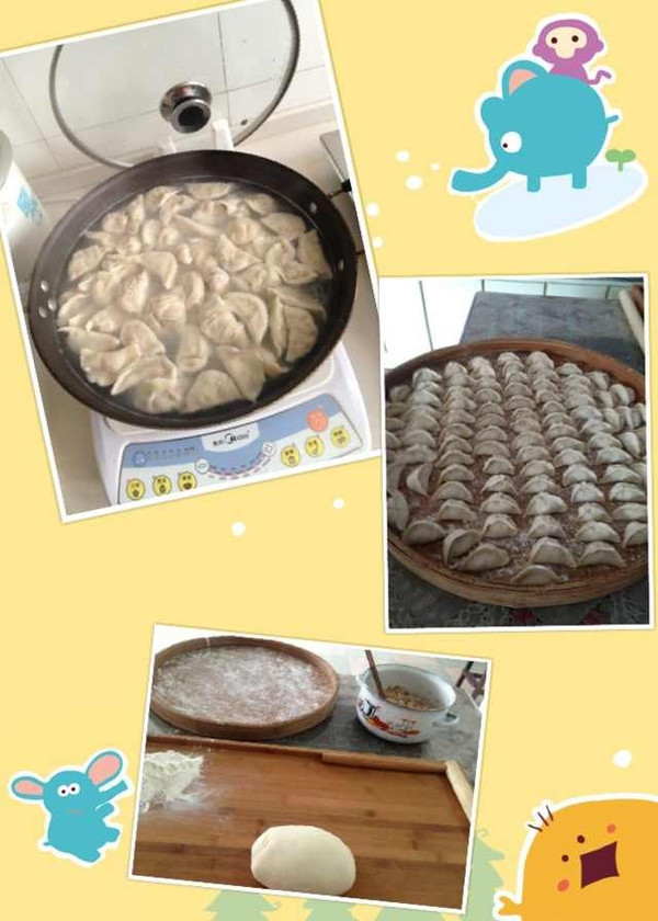 莲藕馅水饺的做法