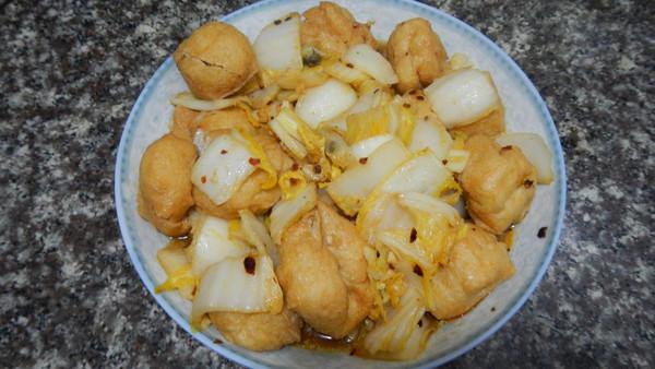 油豆腐炒白菜的做法