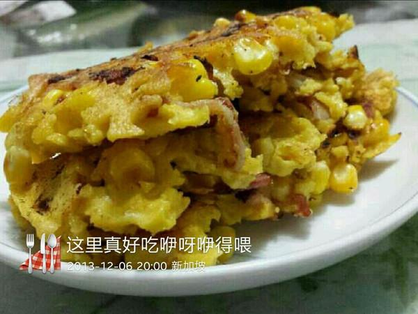 营养早餐---玉米鸡蛋饼的做法