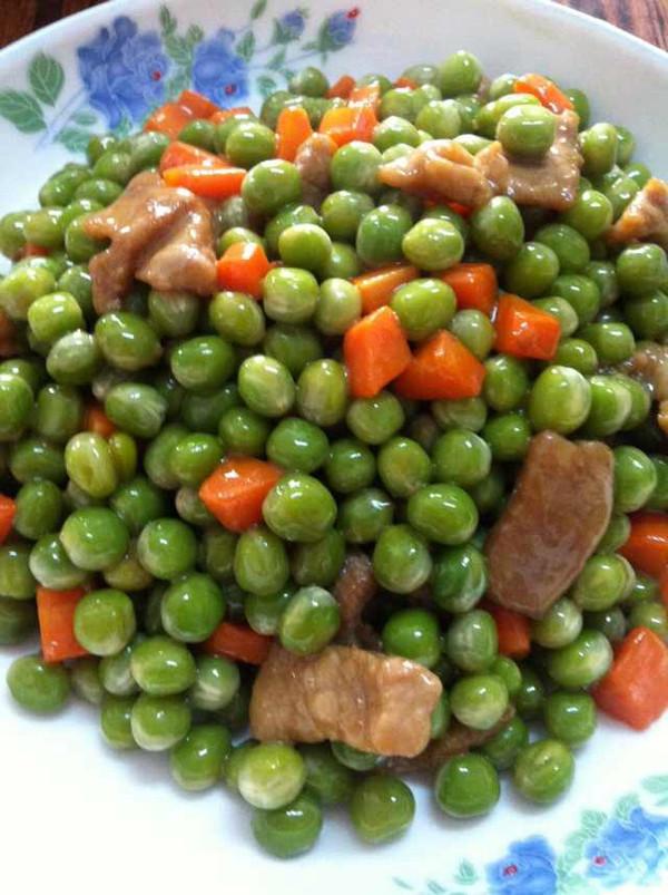 烂肉青豆的做法