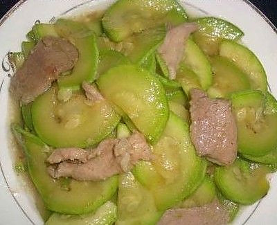 丝瓜肉片的做法