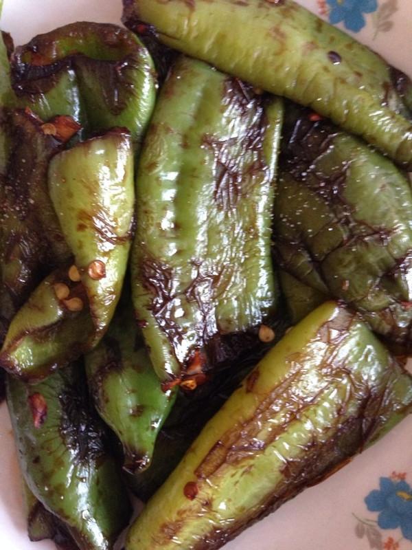 健康版:虎皮青椒 的做法