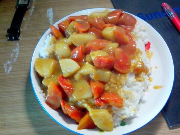 咖喱土豆盖浇饭的做法