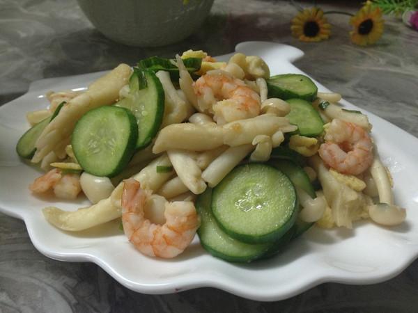 黄瓜炒虾仁的做法