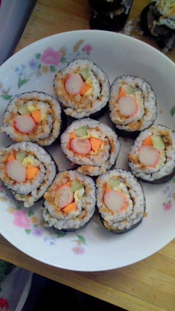 太卷寿司三种,超详解无竹帘简陋版的做法