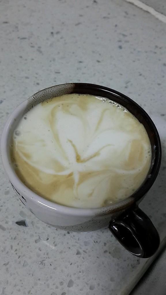 在家煮一杯好咖啡--拉花拿铁 Love的做法