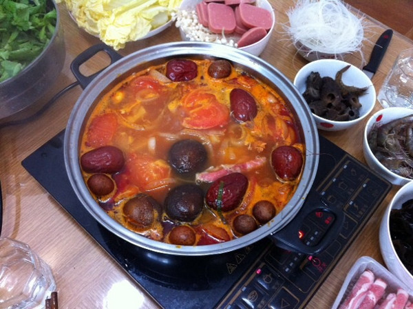 番茄火锅汤底的做法