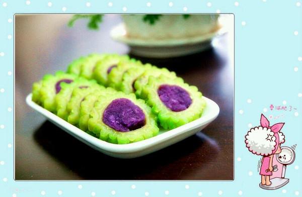 紫薯苦瓜圈的做法