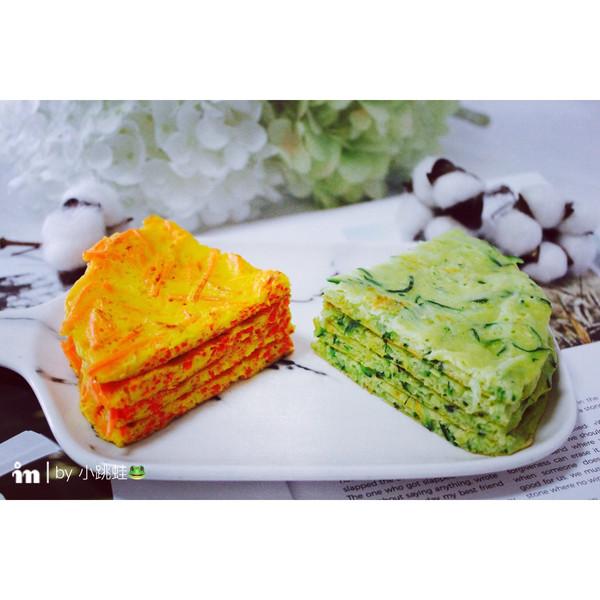 黄瓜,胡萝卜蛋饼的做法