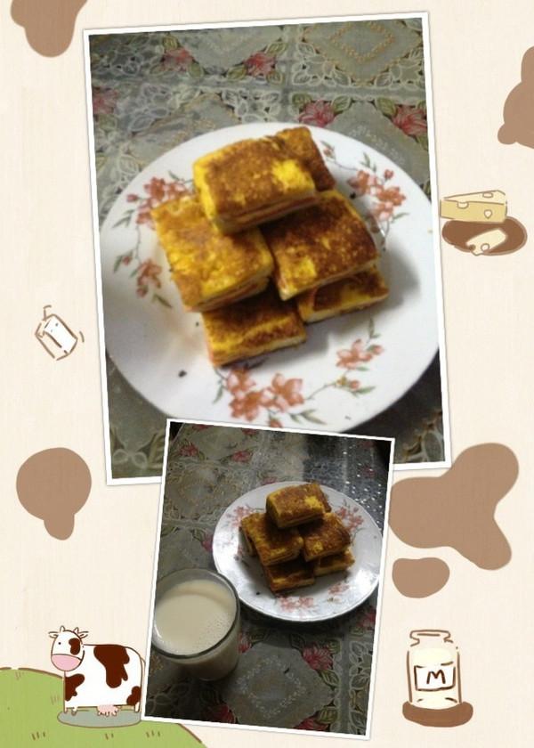 火腿鸡蛋芝士三明治的做法
