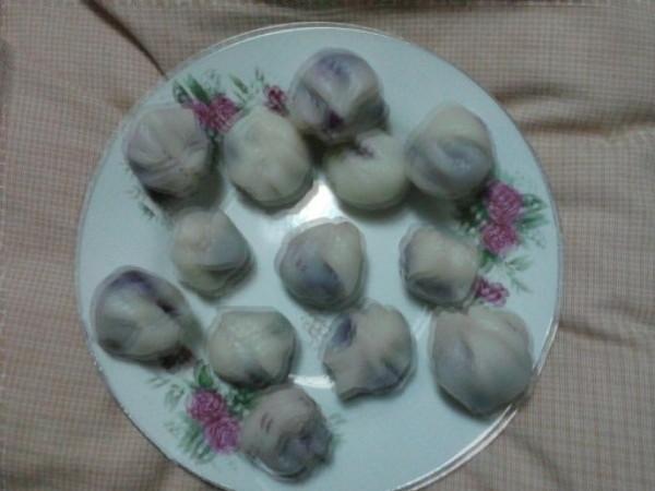 双色紫薯茶巾绞的做法
