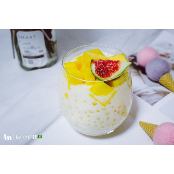 芒果酸奶西米露的做法