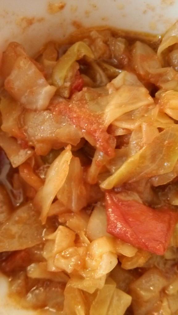 卷心菜炒番茄的做法