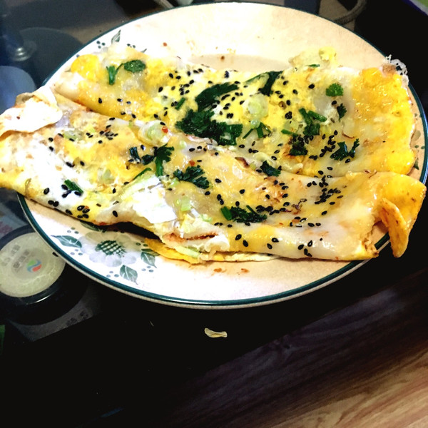 鸡蛋卷饼的做法