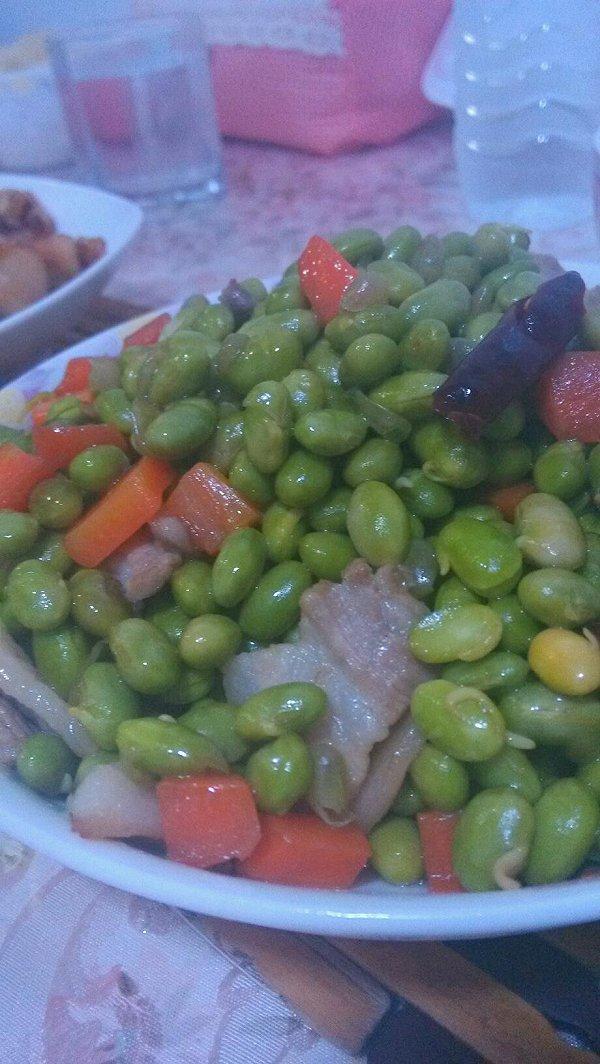 肉炒青豆的做法