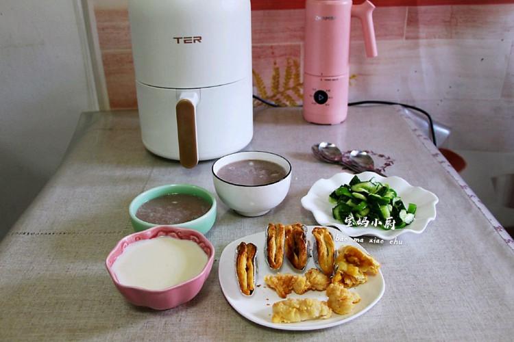 4.20日早餐:苹果派+巴旦木米润豆奶糊+杂粮米糊图5