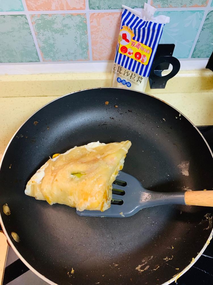 培根鸡蛋芝士手抓饼图2
