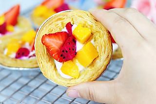 奶油泡芙520的蛋挞新吃法——创意水果蛋挞