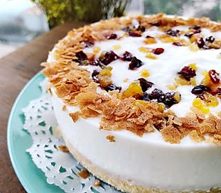 萍萍640的上班早餐:百合蔓越莓杏干莫斯蛋糕