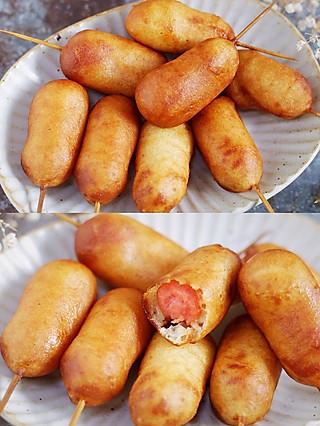 风意画的🔥 拌一拌,裹一裹,炸一炸,香炸迷你热狗创意新吃法!