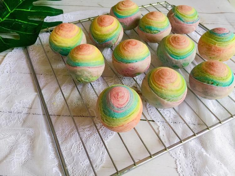 用爱划一道彩虹!颜值高的彩虹酥,螺旋酥,五彩酥,你吃过了吗?图6
