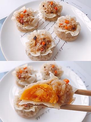 莫哂之的无需揉面❗️好吃到爆❗️又香又糯的咸蛋黄烧麦❗️超级简单❗️【附烹饪小技巧】