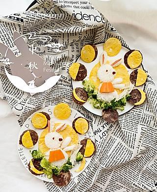乔妃記的小朋友也要有仪式感,女儿们的中秋餐🎑