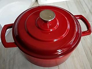 楚楚小厨的收到豆果美食的奖品铸铁锅啦!红红火火中国红,豆果长红🔥🔥