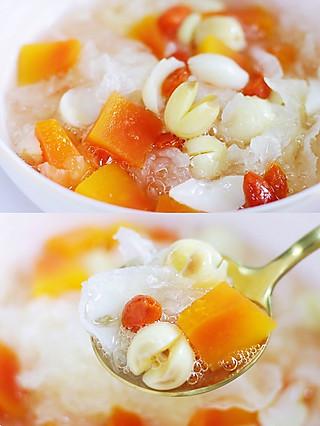 风意画的夏日必备甜汤,平价滋补养颜的木瓜银耳莲子汤羹!