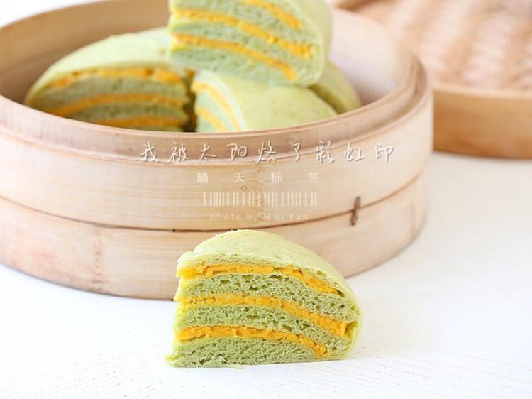 菠菜咸蛋黄千层糕图2