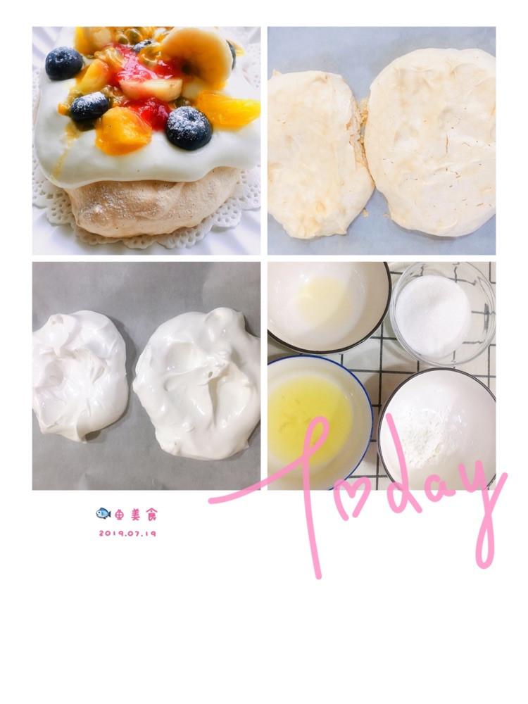 🌸🌸吃货日记233篇今日早餐:帕夫洛娃水果小蛋糕+南瓜牛奶汤+水果🍍今天这款小蛋糕是以一位美丽的舞者命名的蛋糕🍰,蛋糕体是蛋白打发后耗时一个小时左右烘烤出来的,它像马卡龙混合棉花糖的感觉,外壳硬硬的脆脆的,口感像舞者似的很轻盈、松软!奶油部分几乎没加糖,之前做过一次迷你版的,感觉这款蛋糕一定要混合水果和果酱的酸甜搭配才好吃,特别是百香果!早安❤️语:人的一生会有很多理想短的叫念头,长的叫志向坏的叫图6
