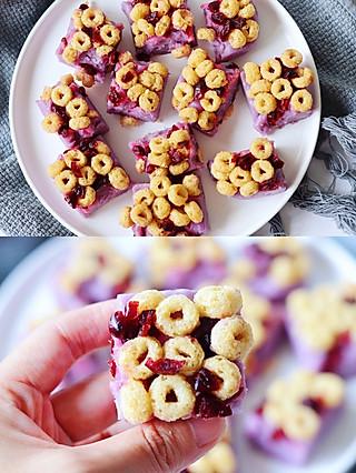 君子恩的超低卡,零失败,一看就会的谷物紫薯糕