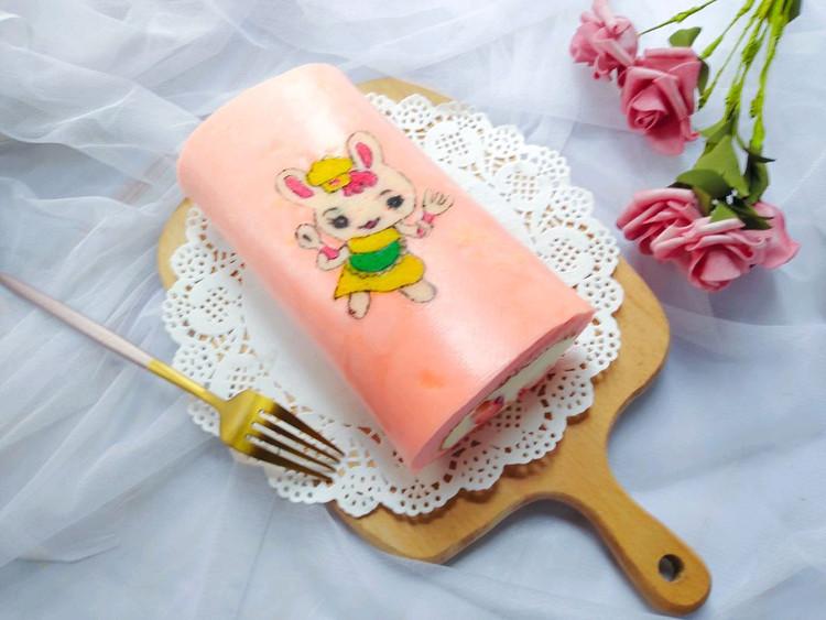 彩绘卡通小兔子蛋糕卷图2