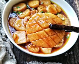 齐梅齐美食的超好吃的酱汁杏鲍菇,做法很简单