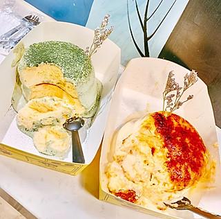 想飞的海豚的来自香港的eiiya am.pm舒芙蕾松饼,炎烧布丁舒芙蕾松饼不容错过!