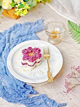 流光舞的㊙️高颜值✅低脂🔥紫薯雪蒸糕💯不用过筛