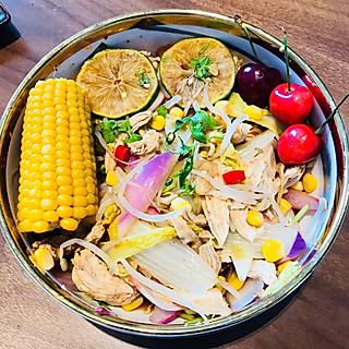 鲤鱼轻食记的冰爽酸甜的青柠凉拌鸡胸❄️鸡胸花式吃法㊙️卡路里极低😱