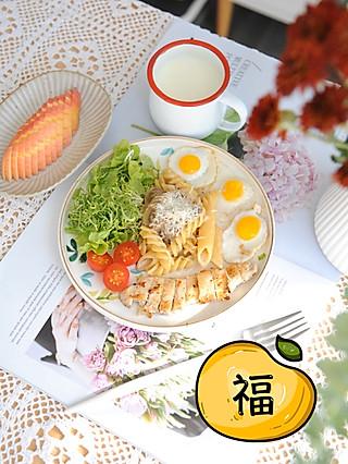 椛吃的一份美味营养的早餐,迎接美好的一天,早安~