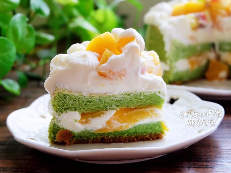 菠菜戚风水果裸蛋糕图2