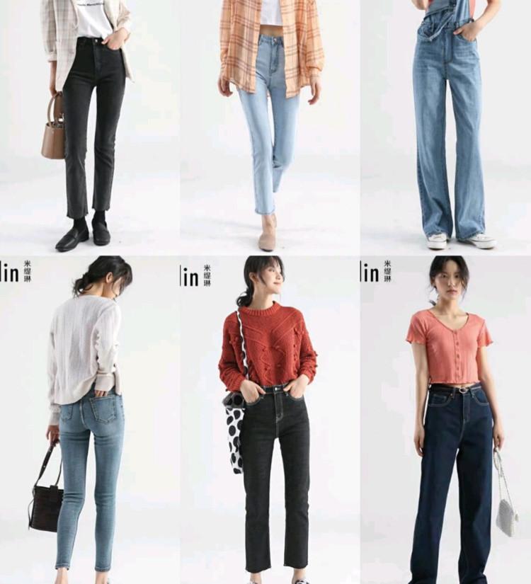 36条直筒牛仔裤!阔腿牛仔裤!版型超好!图3