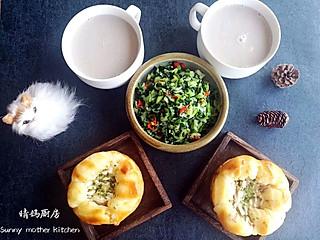 营养师晴妈的营养早餐170-聚宝盆面包